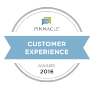 Recipient of the 2016 Pinnacle Customer Service Award