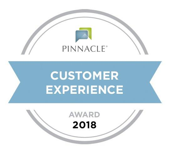 Recipient of the 2018 Pinnacle Customer Service Award