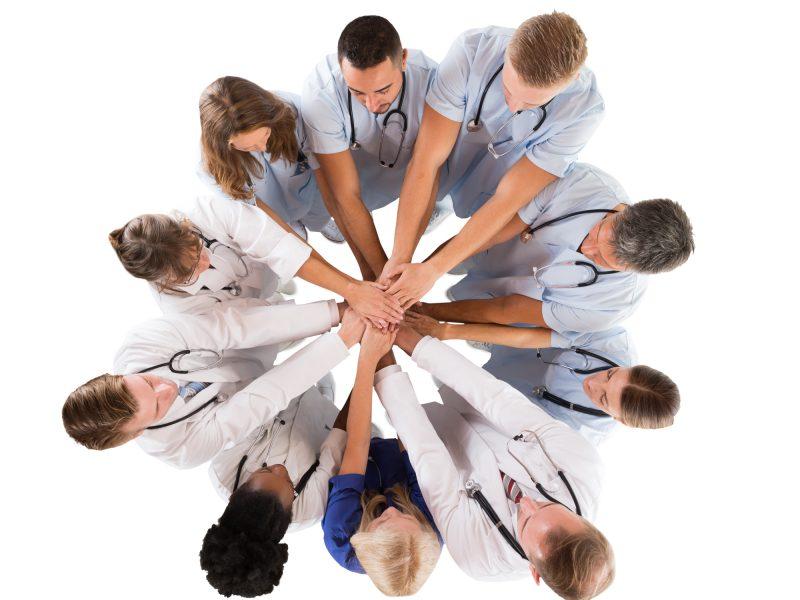 Medical Team piling hands