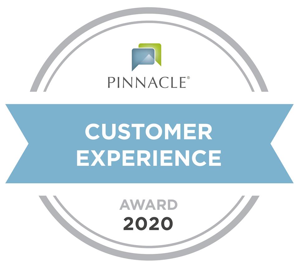 Recipient of the 2020 Pinnacle Customer Service Award